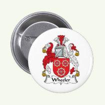 Wheeler Family Crest Button