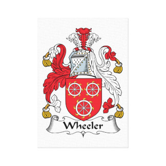 Wheeler Family Crest Stretched Canvas Prints