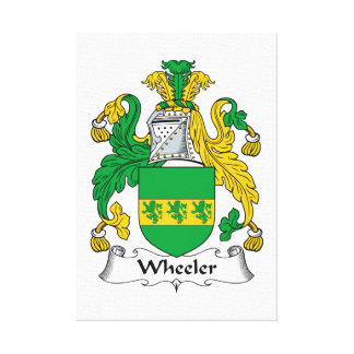Wheeler Family Crest Gallery Wrapped Canvas