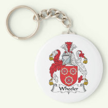 Wheeler Family Crest Keychain
