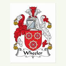 Wheeler Family Crest Postcard