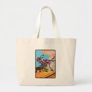 Wheeler on Sand Vintage Oz Large Tote Bag