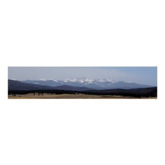 Wheeler Peak from Black Lake, New Mexico Posters