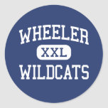 Wheeler - Wildcats - High - Marietta Georgia Classic Round Sticker