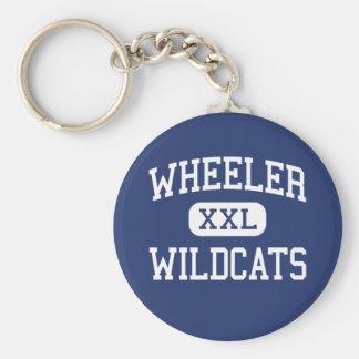 Wheeler - Wildcats - High - Marietta Georgia Basic Round Button Keychain