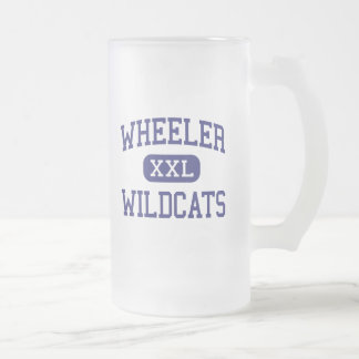 Wheeler - Wildcats - High - Marietta Georgia 16 Oz Frosted Glass Beer Mug