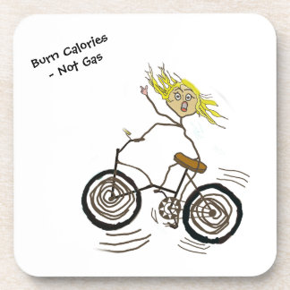 Wheeley el Bicycler feliz quema el gas de las calo