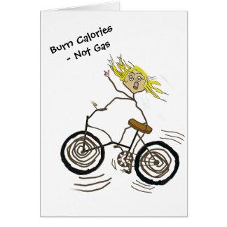 Wheeley el Bicycler feliz quema el gas de las Tarjeta De Felicitación