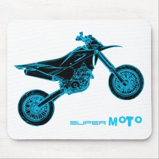 Wheelie de SuperMoto Alfombrilla De Ratón