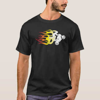 Wheelie Flames B T-Shirt
