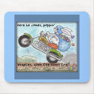 Wheelies de Poppin del conejito de pascua' Tapetes De Ratones