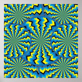 Wheelies del zigzag impresiones
