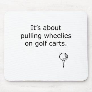 Wheelies en diseño del golf de los carros de golf tapetes de raton