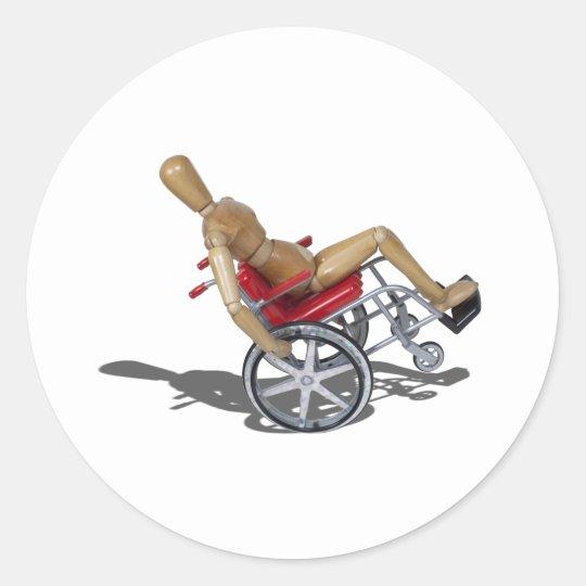 WheelieWheelchair103110 Classic Round Sticker