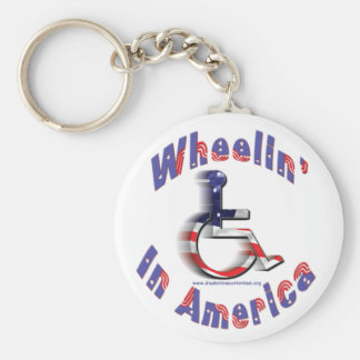 Wheelin' In America Keychain