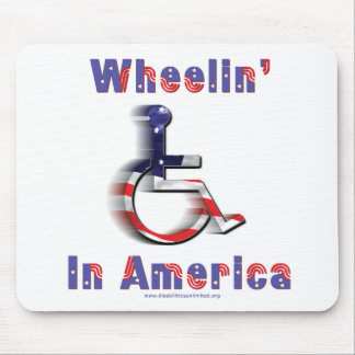 Wheelin' In America Mouse Pad