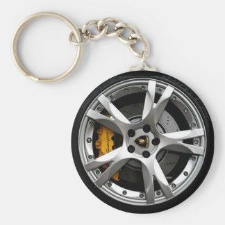 Wheelin Basic Round Button Keychain