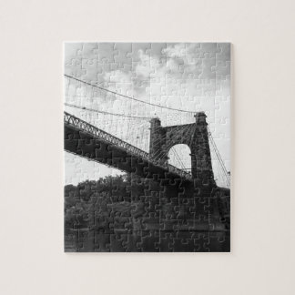Wheeling Suspension Bridge B&W 2 Jigsaw Puzzle