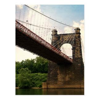 Wheeling Suspension Bridge Postcard