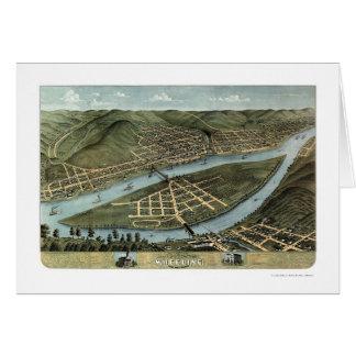 Wheeling, WV Panoramic Map - 1870 Card