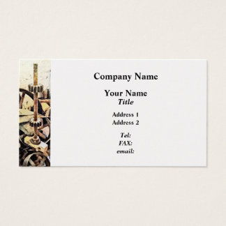 Wheels and Gears in Grist Mill Business Card