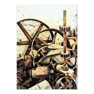 Wheels and Gears in Grist Mill Card