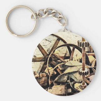 Wheels and Gears in Grist Mill Keychain