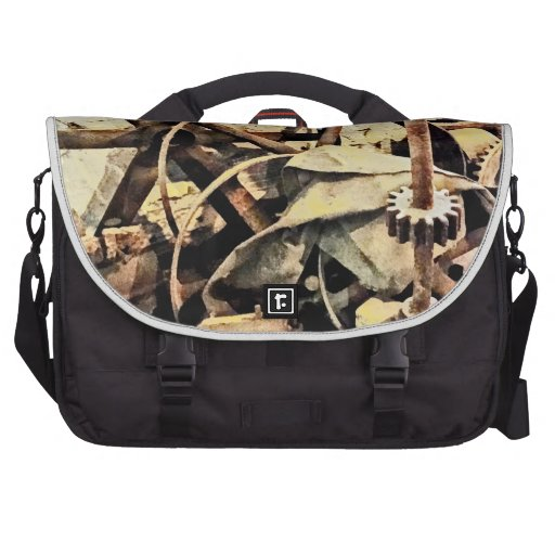 Wheels and Gears in Grist Mill Laptop Bags