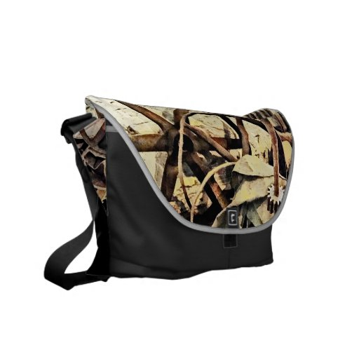 Wheels and Gears in Grist Mill Courier Bags