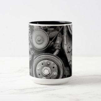 Wheels and Pulleys 2 tone coffee mug