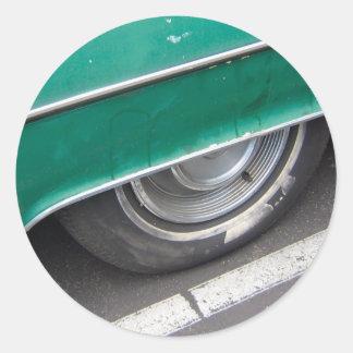 Wheels Classic Round Sticker