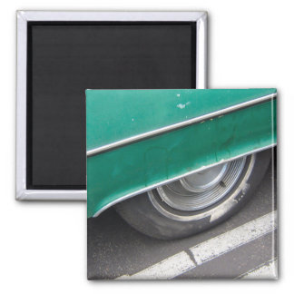 Wheels 2 Inch Square Magnet