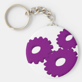 Wheels of Cog Moving Basic Round Button Keychain