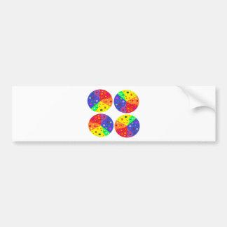 wheels of color bumper sticker