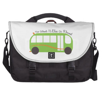 Wheels On Bus Bag For Laptop