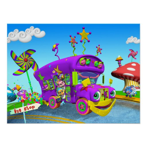 """""""Wheels on the Bus""""  24w X 18h Poster"""