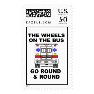 Wheels on the Bus - Ambulance Stamp