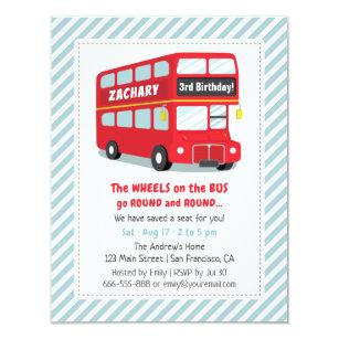 Party Bus Invitations Zazzle