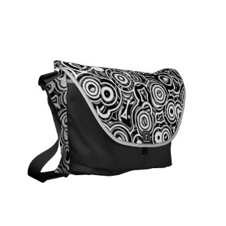Wheels Within Wheels Abstract Pattern Shoulder Bag Courier Bags