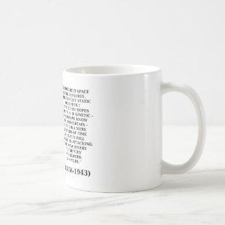 Wheelwork de la cita de la energía cinética de la  tazas de café