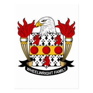 Wheelwright Family Crest Postcard