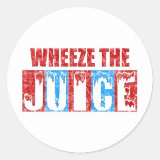 Wheeze the Juice Classic Round Sticker