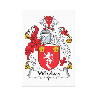 Whelan Family Crest Stretched Canvas Print
