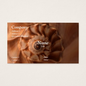 Professional Business Whelk Left Turn Business Card