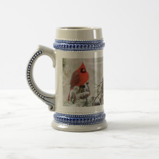 When a cardinal appears, a loved one is near beer stein