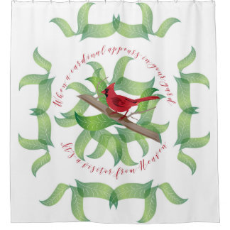 When a cardinal appears in your yard... shower curtain