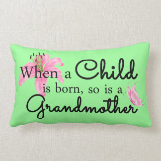 When a child... lumbar pillow