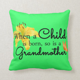 When a child... throw pillow