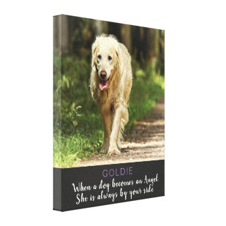 When a Dog Becomes and Angel Female Dog Canvas Print