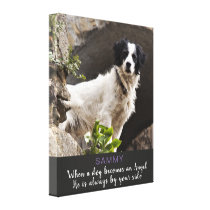 When a Dog Becomes and Angel Male Dog Canvas Print